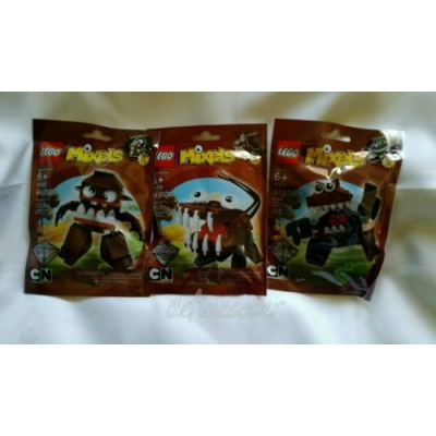 LEGO MIXELS Series 2 Brown Fang Gang  * RETIRED *