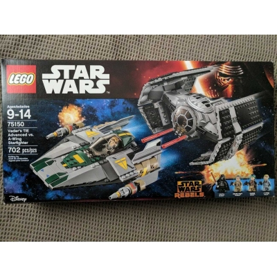 Star Wars 75150 Darth Vader's Tie Advanced vs. A-Wing