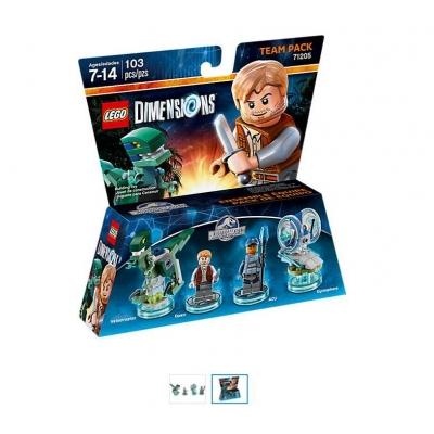 LOT of 6 LEGO Dimensions Jurassic World Level packs (case)
