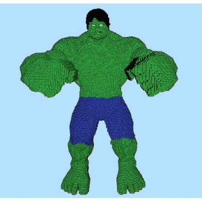 LEGO Hulk life size statue building instruction