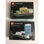 Architecture Lot - 21018 United Nations Headquarters Building 21011 Brandenburg Gate - FREE SHIPPING