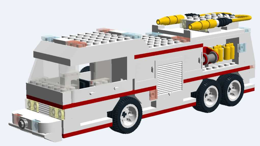Lego Custom Fire Trucks Instructions Parts List For 5 Vehicles No