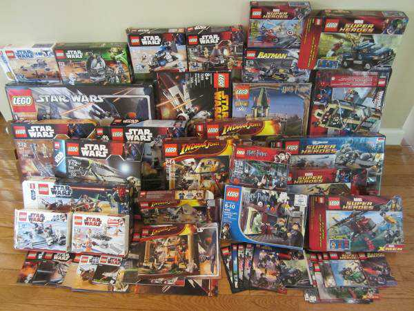 Over 100 Lego Boxes And Instructions In Near Mint Condition By