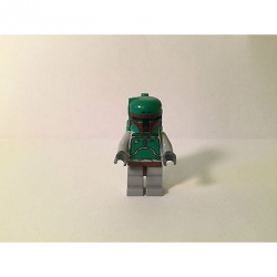 Genuine LEGO Star Wars Minifigure- Boba Fett - Bluish Grays -from 6209 - SW002a