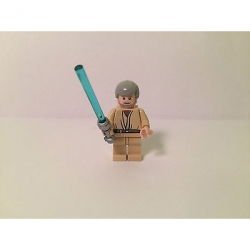 LEGO Star Wars Minifigure- Obi-Wan Kenobi (Old with Light Bluish Gray Hair) 8092