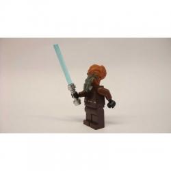 New Star Wars LEGO minifigure - Plo Koon + blue lightsabre from set 7676