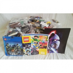LEGO bricks, minifigs, BIONICLE, posters, DS games and catalogs