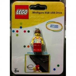 LEGO Girl Minifigure 8GB USB Flash Drive (keychain included)